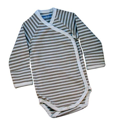Newborn Long Sleeve Side Snap Baby Onesie- for before umbilical cord falls off