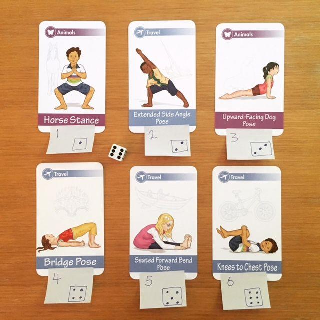 Yoga card game using dice   Kids Yoga Stories