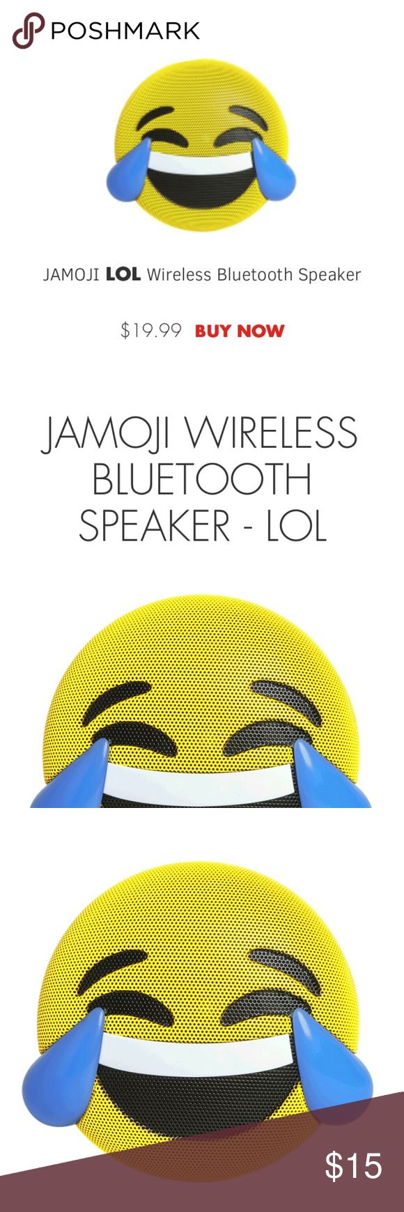 Jamoji Cry-Laugh Emoji Wireless Speaker Show off your attitude and crank up the tunes with completely wireless Jamoji speakers. Choose from a range of fun emoji designs that highlight your silly side. All speakers are rechargeable and deliver up to six hours of play time on a full charge. Bluetooth compatibility makes them easy to connect to your favorite devices, and the speakerphone feature lets you answer calls directly from your speaker. Jamoji Other