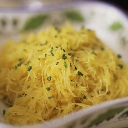 Spaghetti Squash with Garlic, Mushrooms, Tomato and, Feta: 