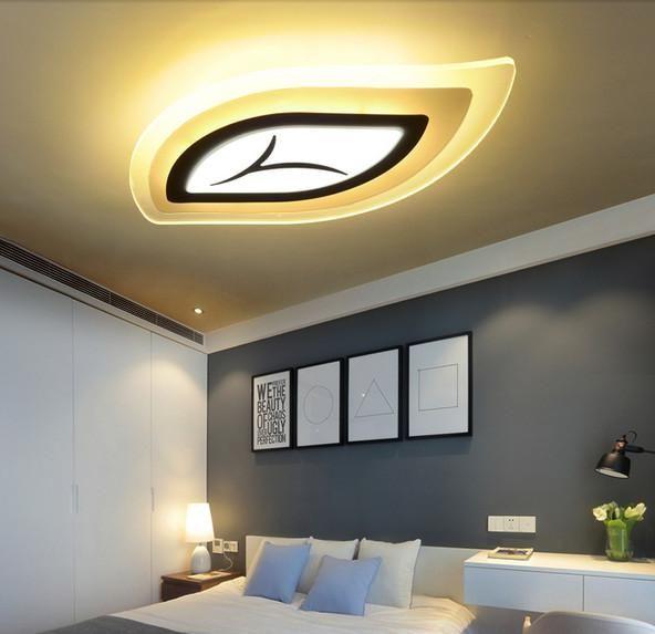 Modern Creative Led Clear Acrylic Ceiling Mounted Leaf Model