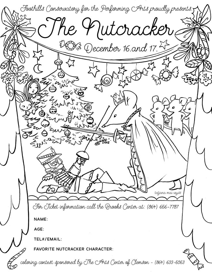 coloring page for a contest connected with the Nutcracker ...