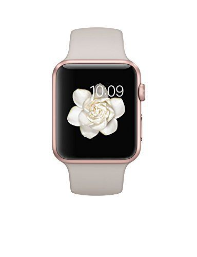 Rose Gold anodized aluminum case, Ion-X glass, Digital CrownRetina display with Force Touch Speaker and microphone, Wi-Fi (802.11b/g/n 2.4GHz), Bluetooth 4.0 Sport Band with stainless steel pin Heart rate sensor, accelerometer and gyroscope; Ambient light sensor Up to 18 hours of battery....