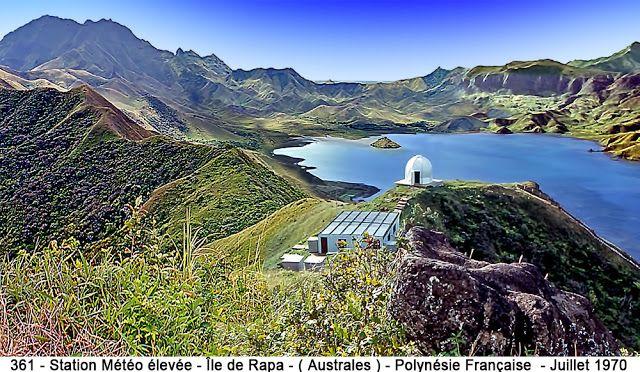 Ile de Rapa  ( Archipel des Australes ) - Polynésie Française ) - La station météo élevée : AN/GMD2 -