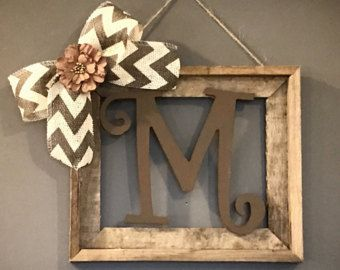 Rustic Tabletop Initial Frame Initial Frame by AllThatsRustic
