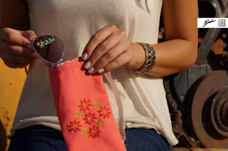 Saru fashion embroidered sunglasses and pockets #handmade #palestinian #embroidery #art