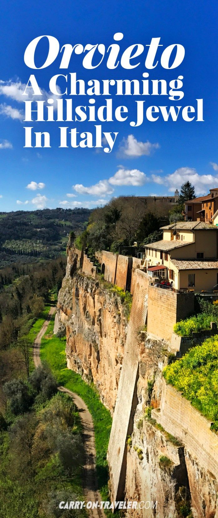 If you are looking for an Italian hilltop town that checks all of the boxes for picture-perfect charm, unique sites, interesting history and delicious food, or if you just need a quick break from the chaos that is Rome, visit Orvieto, a charming hilltop jewel in Italy.
