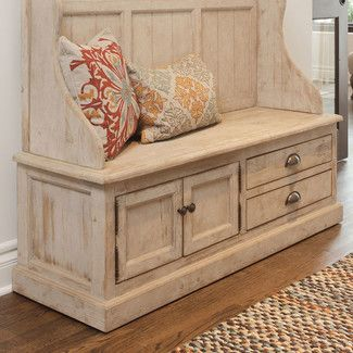 <strong>Kosas Home</strong> Elodie Pine Storage Entryway Bench