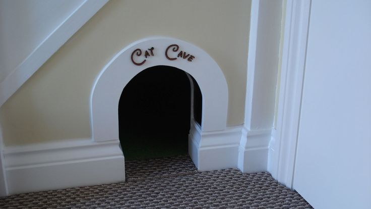 14. Cat Cave master entrance. Yes I know cat's can't read but sometimes adding a little quirkiness makes something acceptable and instead of a gaping hole in the side of the wall in the hallway, we have a 'Cat Cave'