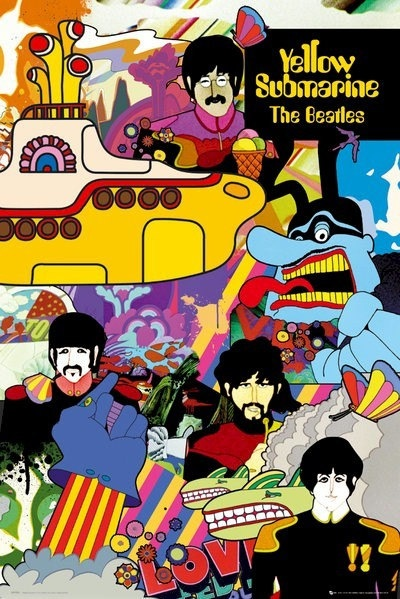 The Beatles Poster  Yellow Submarine