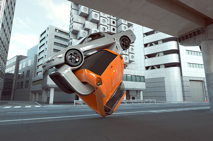 Digital illustrator Chris Labrooy continues to experiment with radically unusual car designs by creating ludicrous CGI vehicle concepts based on VW Beetles, Datsuns, and Citroen C3s. Since we first mentioned his Auto Aerobics series, Labrooy decided to bring a few of his ideas to life in a series of