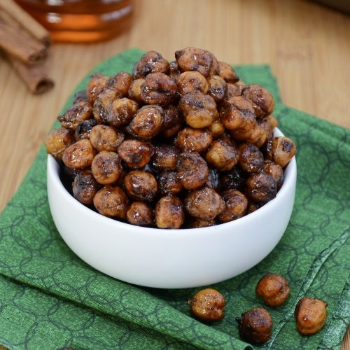 Honey Cinnamon Roasted Chickpeas...the healthy answer to your afternoon snack attack!