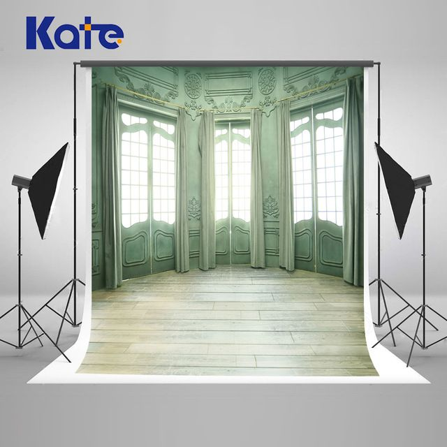 Kate 8x8ft Indoor Wedding Windows and Curtain Photography Backdrop Wood Floor Room Backdrop for fondos de estudio fotografia