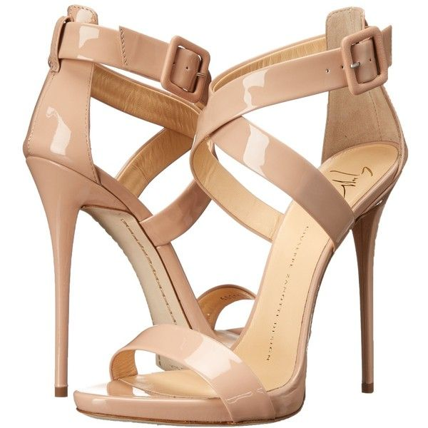 Giuseppe Zanotti Women's Cross-Strap Dress Sandal (1.530 BRL) ❤ liked on Polyvore featuring shoes, sandals, heels, chaussures, zapatos, heeled sandals, dress sandals, giuseppe zanotti, cross strap sandals and cross strap shoes