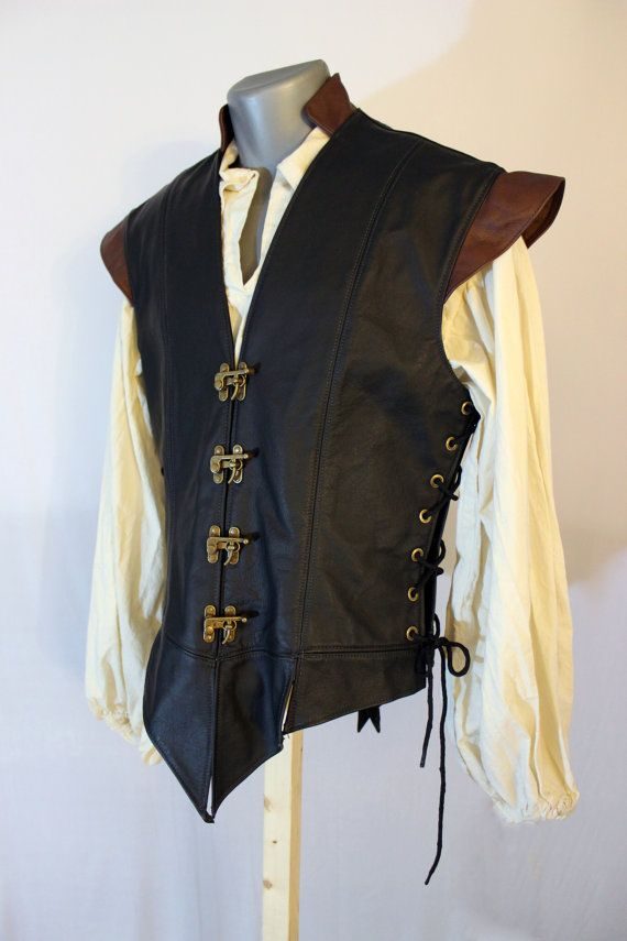 This attractive leather jerkin is made from durable 3-4 oz cowhide, treated to stand up to the elements, and carefully crafted to last a