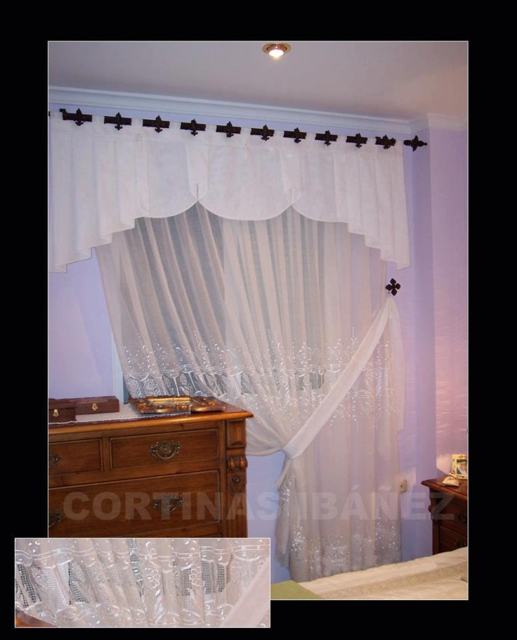 52 best images about cortinas y estores on pinterest for Cortinas estilo clasico