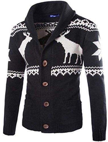 Product review for YUNY Mens Christmas Deer Print Button Front Knit Cardigan Sweater.  Hi buyer, pls pay attention, pls read our size details clearly before making the buying decision. Thanks. Super quality, much more comfortable.  Package:Other accessories not include Material: Size details: US X-Small=China...