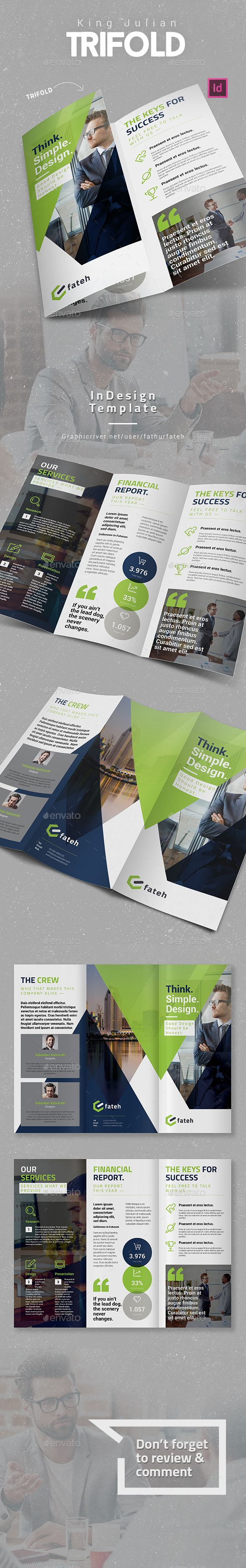 Corporate Trifold Brochures Template InDesign INDD