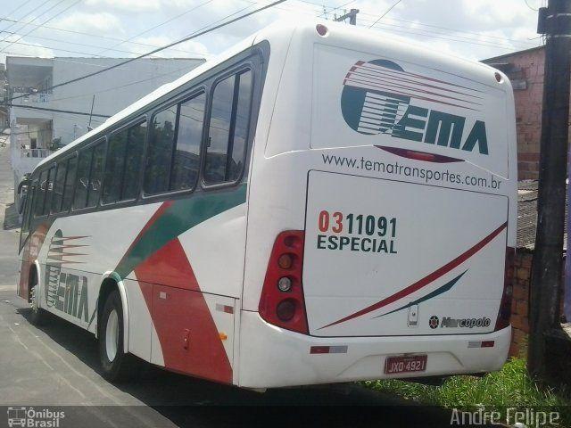 Ônibus da empresa Tema Transportes, carro 0311091, carroceria Marcopolo Ideale 770, chassi Volkswagen 17.230 EOD. Foto na cidade de Manaus-AM por André Felipe , publicada em 09/09/2015 12:13:01.