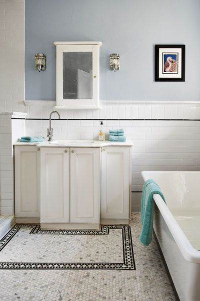 Nice floor detail! Photo: Deborah Whitlaw Llewellyn | thisoldhouse.com | from The Hidden Beauty in a 1920s Mediterranean Revival