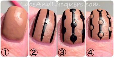 Lace & Lacquers: A Super easy nail art tutorial! Full manicure pictures on my blog!