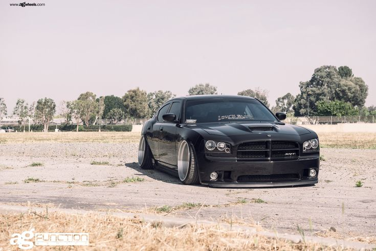 Stanced SRT Charger on Deep Dish Rims by Avant Garde