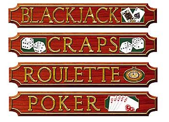 These Casino Card Game Sign Cutouts will help you get your Vegas night rolling. Stumpsparty.com