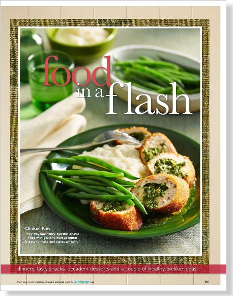 Chicken Kiev. Clipped from Better Homes and Gardens using Netpage.