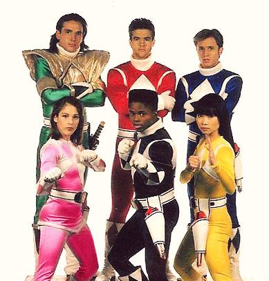 Jason David Frank, Austin St. John, David Yost, Amy Jo Johnson, Walter Jones and Thuy Trang