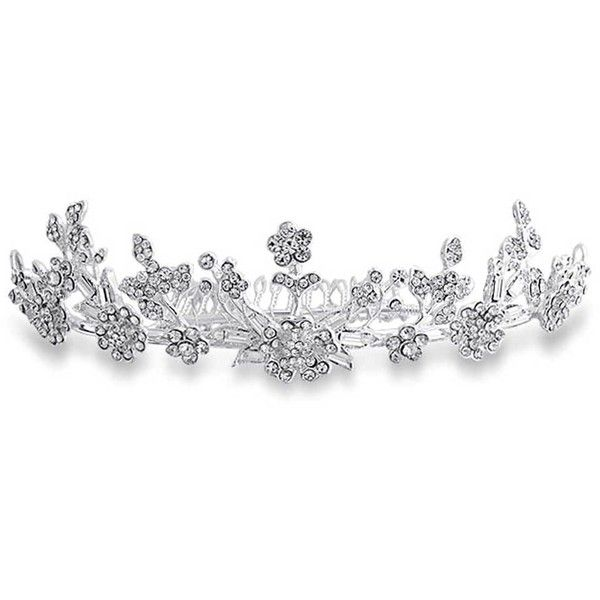 Bling Jewelry Wood Nymph Headpiece ($50) ❤ liked on Polyvore featuring jewelry, accessories, crowns, tiaras, hair accessories, fashion-headbands, white, bridal crown, white crown and bridal jewellery