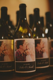 could do engagement photos on wine bottles.  (we're making our wedding wine, and beer)  Style Me Pretty | Gallery