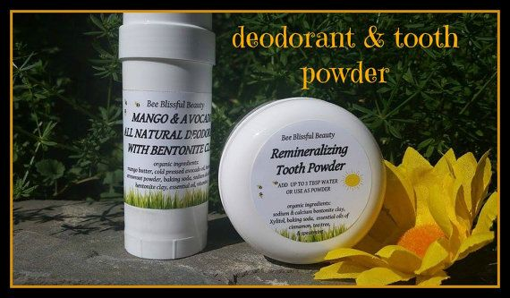 HEALTHIER LIVING COMBO Natural Deodorant and by BeeBlissfulBeauty