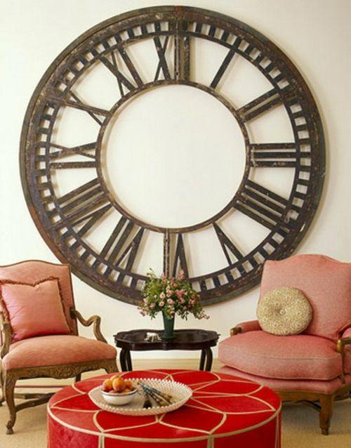Ideen Fr Wandgestaltung Wanduhr Gross Xxl Wohnzimmer WanddekorationWandgestaltungFarbenWohnzimmerGrossuhrenWanduhren ZifferbltterVintage UhrenAntike Uhren