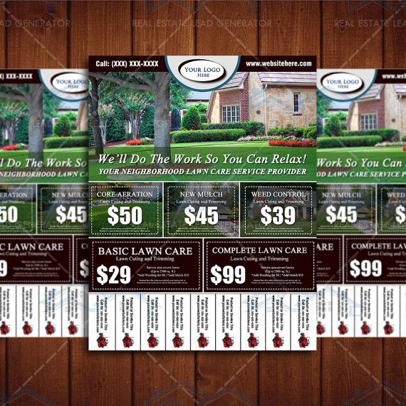 4x 11 Door Hangers for Lawn Care Business - Digital FIles - Lawn