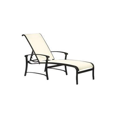 Tropitone Ovation Reclining Chaise Lounge Finish: Woodland, Fabric: Sparkling Water