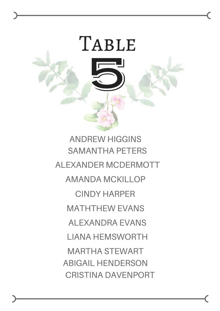 Beautiful Wedidng Table Seating Card... Floral themed with leaves. Simply stunning. Visit here to see it..