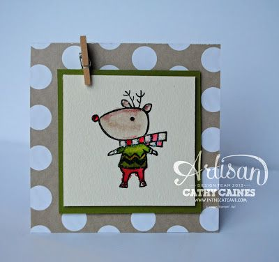 Such a fun card: Christmas Cards, Colors Skilz, Cathy Cain, Cards Christmas, Cards Birthday, Artisan Wednesday, Cat Caves, Xmas Cards, Fun Cards