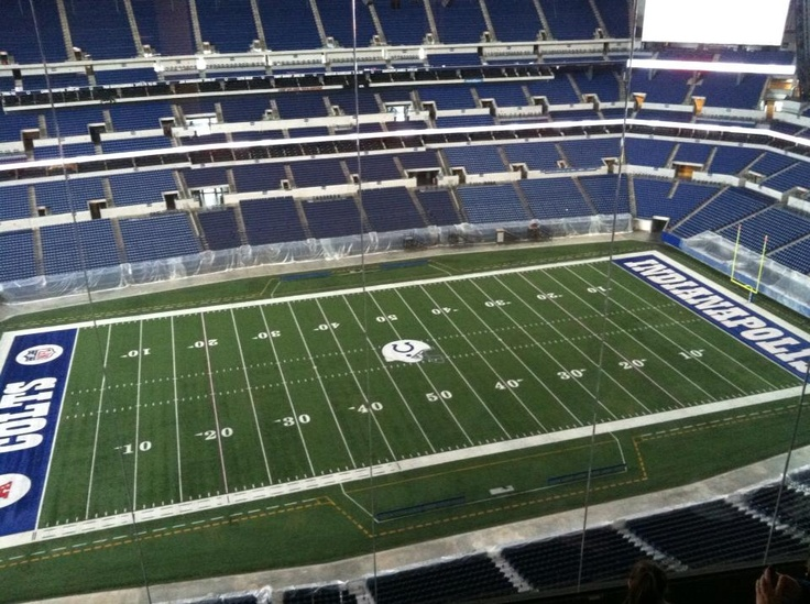 At Lucas Oil Stadium. Want to see the Colts play!!!!!