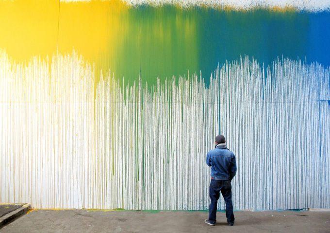 .Wall Colors, Wall Art, Inspiration, Wall Murals, Interiors Design, Colors Design, Street Art, Krink, Streetart