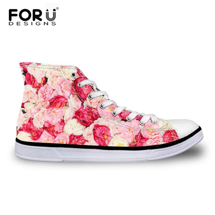 Nieuwe 2016 mode bloem roshes vrouwen canvas schoenen casual hoge platte schoenen hoge kwaliteit Londen bloemen wandelschoenen Plus 35-45(China (Mainland))