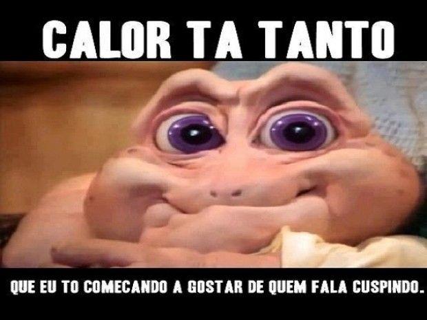 Baby, personagem da Família Dinossauros, também virou meme sobre calor (Foto: Reprodução/Twitter)