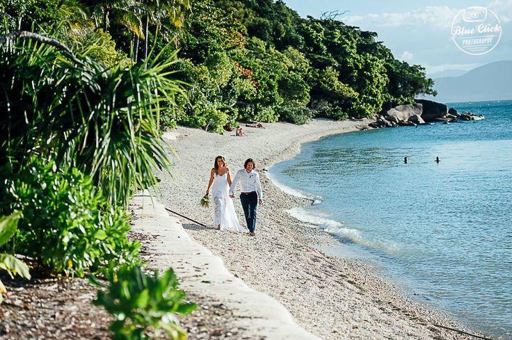 Fitzroy Island is a tropical paradise for beach or garden weddings