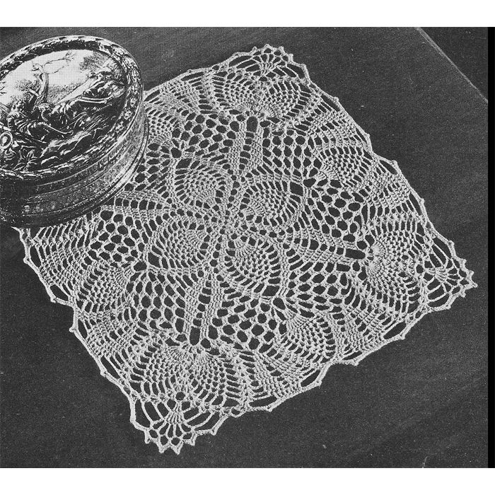This crochet doily pattern called Pineapple Posy is small in size at just 8 1/2 inches, but certainly has a big impact.