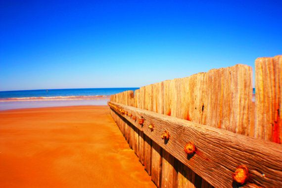 Wooden Fence at Front Beach in Torquay, Victoria. Digital File. Download.