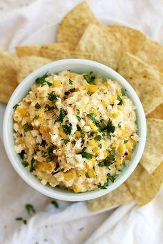 Slow Cooker Mexican Grilled Corn Dip   http://girlversusdough.com @girlversusdough