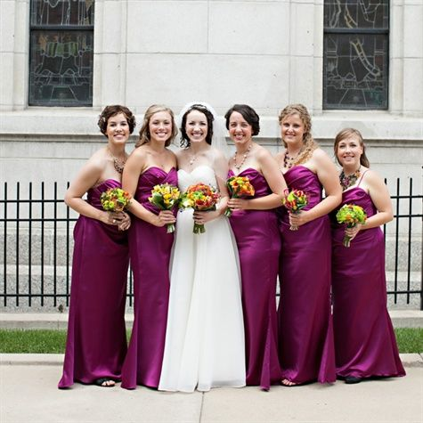 Magenta Dresses Bridesmaids Weddings