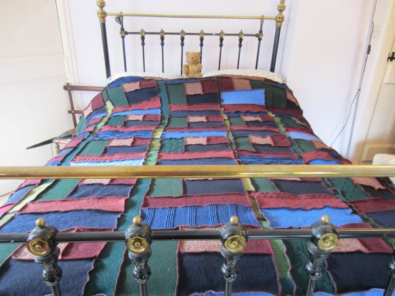 Extra Thick and Warm Wool Double Blanket Afghan by TheWoollyPedlar, £185.00