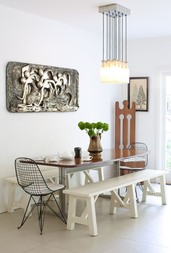 eclectic space from interior designer Tamara Kaye Honey. Chairs and light & 100 best Case Study® Wire Chairs images on Pinterest | Wire chair ... azcodes.com