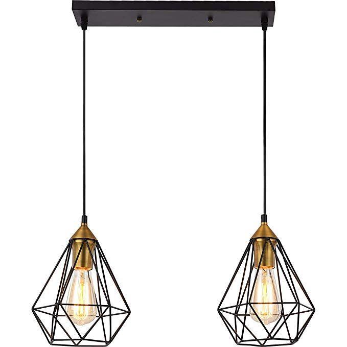 Seeblen 2 Light Indoor Island Pendant Light Coffee Brown Metal Hanging Ceiling Light Fixtures For Ceiling Lights Hanging Ceiling Light Fixtures Hanging Lights