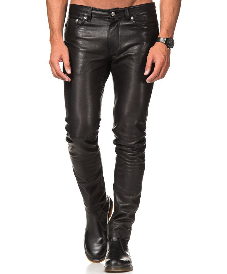 BLK DNM - LEATHERPANT 25 BLACK